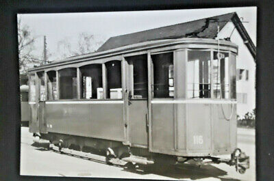 Mint Vintage Switzerland 1909 Train Used For Temporary Service RPPC