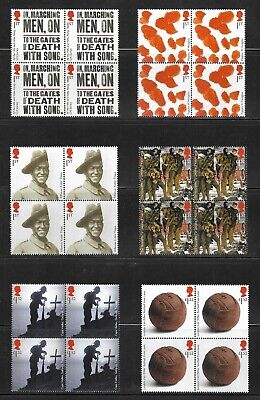 Royal Mail Stamps 2015 - 4 Sets Of First World War - 1915 - Mint Blocks Mnh.