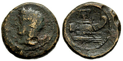 FORVM Scarce Panormos Sicily AE14 241-70 BC Head of Demeter / Galley Prow