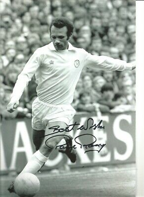 Paul Reaney Leeds United Signed 12 x 8 inch authentic football photograph SS749