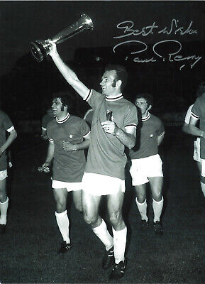 Paul Reaney Leeds United Signed 12 x 8 inch authentic football photograph SS749A