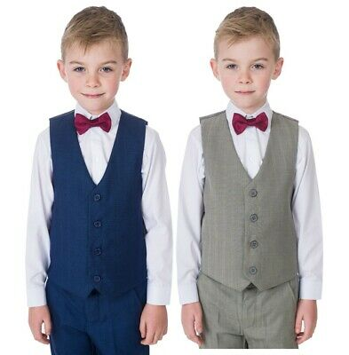 Boys Suits, Boys Waistcoat Suit, 4 Piece Wedding Page Boy Formal Party Baby Suit