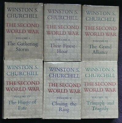 WINSTON CHURCHILL The Second World War  All FIRST EDITIONS Rare Condition