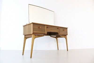 Rare Mid Century Alfred Cox Walnut Dressing Table Stunning Legs And Condition