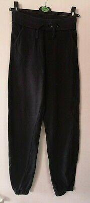 GEORGE Girls black tracksuit trousers size 13-14 years