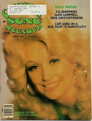 Country Song Roundup Magazine March 1976 Dolly Parton Glen Campbell