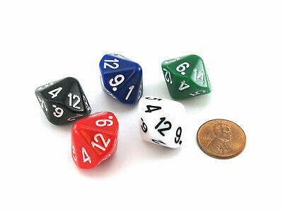 D2//D3//D4 MultiDie Unique Modified Rhombic Dodecahedron Dice Choose Your Color