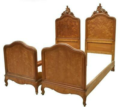 PAIR OF ITALIAN BEDS, LOUIS XV STYLE BEDS, 19TH Century ( 1800s )