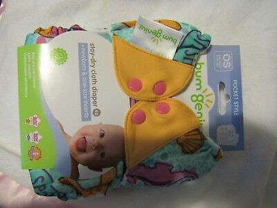 NIP New Bumgenius  All in One AIO Freetime Pocket Diaper Marie Mermaid Print