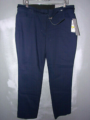 New Jm Collection Sz.14, Blue, With Belt, Ankle,Tummy Control Pants