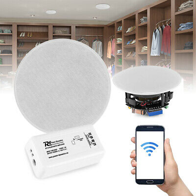 Bluetooth Ceiling Speakers and Amplifier System Kitchen Bathroom Home Audio FCS5