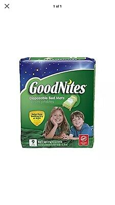 Goodnites Disposable Bed Mats New In package