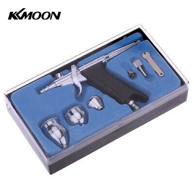 KKMOON Copper Dual Action Pistol Trigger Airbrush W// 3 Cups for Art T4O0
