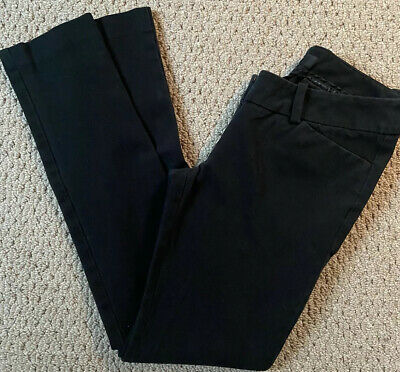 Mossimo Womens Stretch Extensible Skinny Black Ankle Pants Mid Rise Sz 2 FREE SH