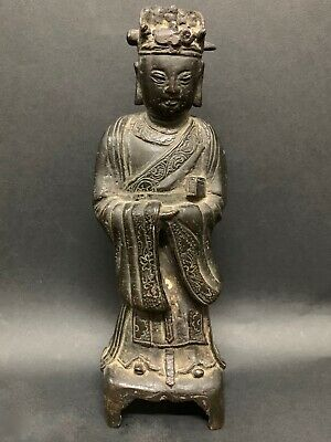 Chinese Art Old Bronze Quanyin