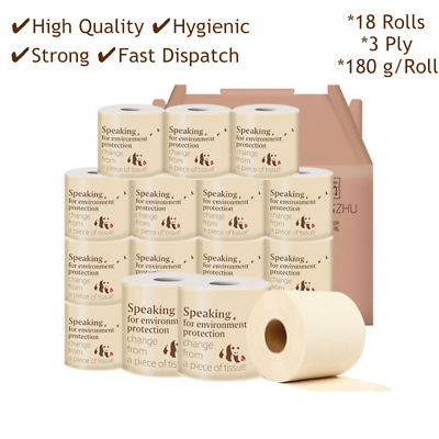 18 Rolls Soft Paper Towels Kitchen Toilet Paper Household 3Ply Hand Towel Roll