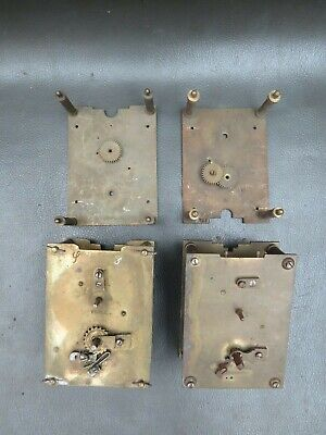 Job lot of vintage carriage clock movements & parts for repair or parts