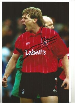 Stuart Pearce Notts Forest Signed 12x8 inch authentic football photograph SS774A