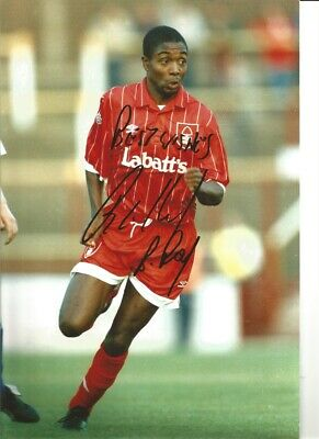 Bryan Roy Notts Forest Signed 12x8 inch authentic football photograph SS787