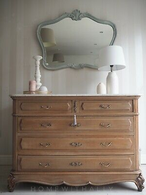 Large French Louis Xv Drawers With Marble Top
