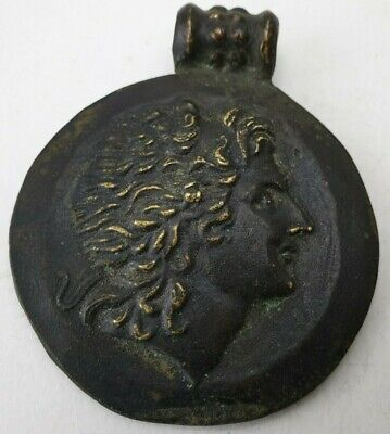 Alexander -Ancient Roman Bronze-in original style  Amulet  medallion pendant
