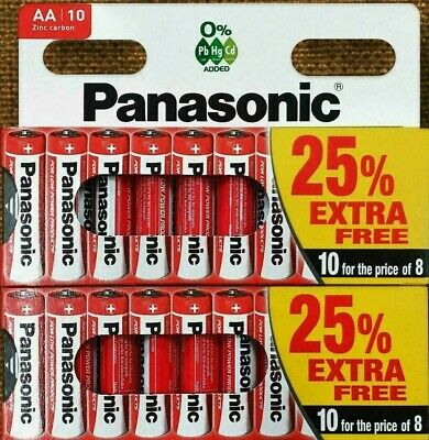 20 x AA Genuine PANASONIC Zinc Carbon Batteries - New LR6 1.5V MN1500 R6