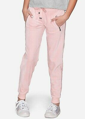 Justice Girls Velour Pants Joggers Pink Size 14/16