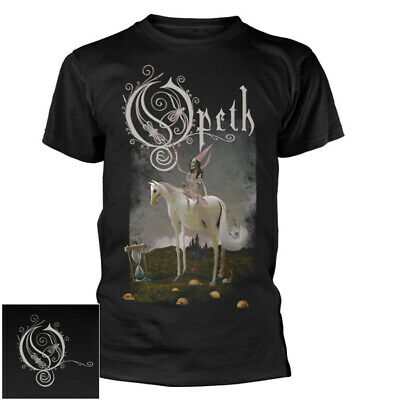 OPETH WATERSHED GOLD FOIL LOGO LADIES SKINNY T SHIRT NEW OFFICIAL HERITAGE BWP