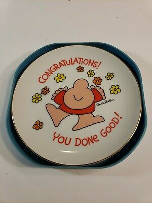 Vintage Ziggy Plate Congratulations You Done Good