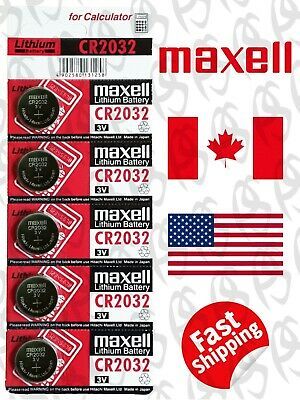 5 pecs MAXELL CR2032 / BR2032 / DL2032 Lithium Battery 3V, Exp. 2029