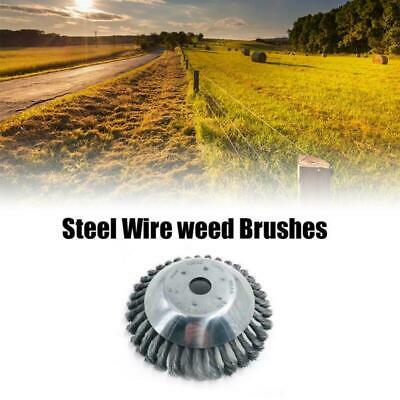 Weed Brush Steel Wire Wheel For Brush Cutter Replacement Dust Removal Deburring