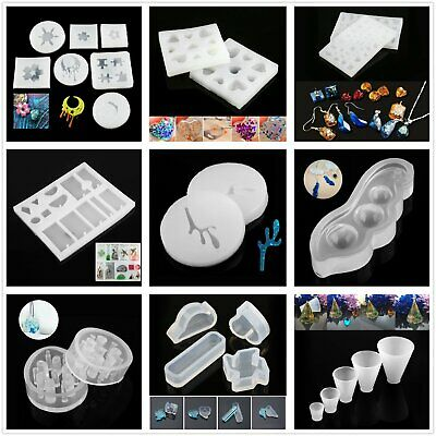 AU 29 Style Jewelry Pendant Making Resin Craft Moulds & Supplies Silicone Mold