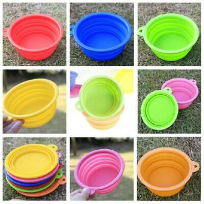 Colorful Cat Dog Water Dish Pet Feeding Bowl Silicone Collapsible