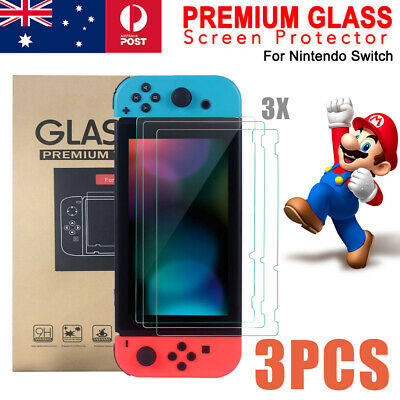 3 Packs Nintendo Switch LCD Tempered Glass Screen Protector 9H Film Cover Guard