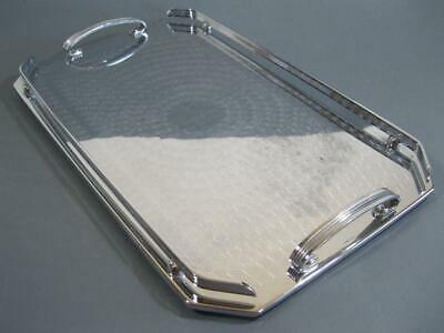 Vintage/retro Ranleigh drinks/serving cocktail tray chrome/stainless steel