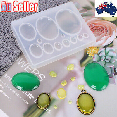 Silicone Pearl Bead Earring Pendant Jewelry Mold Resin Casting Mould Craft DIY