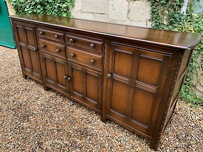 VINTAGE ERCOL LARGE 7ft SIDEBOARD DRESSER BASE . DELIVERY AVAILABLE MOST AREAS