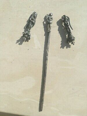 ancient Roman silver hairpin and incredible earrings
