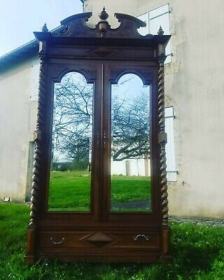 Antique French Armoire,Chateau Louis XIII Style Wardrobe