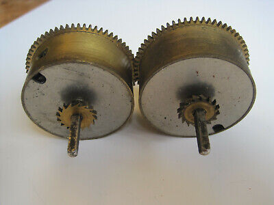 2 Clock Barrels for Smiths Striking Clock with Mainspring, Arbor & Ratchet wheel