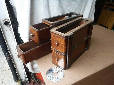 PAIR  of   2 DRAWER SINGER SEWING MACHINE UNDER  SLUNG    DRAWERS