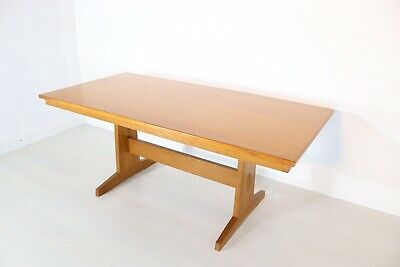 Peter Waals Style Arts & Crafts Craftsmanship Solid Oak Dining Table Refectory
