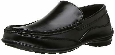 Kids NOTFOUND Boys Booster Driving Slip On Loafers, Black, Size 4.0 dur2