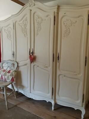 Vintage French Oak Armoire Wardrobe Breaks Down .KEYS