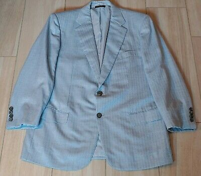 Brioni Italy Recent Blue 93% Cashmere 7% Silk 2 Button Blazer Jacket 42 S MINT!