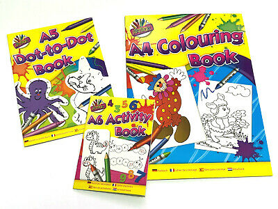 3 PACK of ACTIVITY BOOKS KID DOT COLOURING PUZZLE BORED CHILDREN HOME OFF SCHOOL