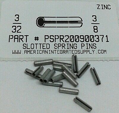 3/32X3/8 Slotted Spring Pin Steel Zinc Plated (60)