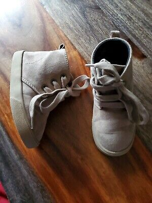 Crazy 8 Girl's Boy's Tan Brown Faux Suede High Top Sneakers Shoes Toddler Sz 7