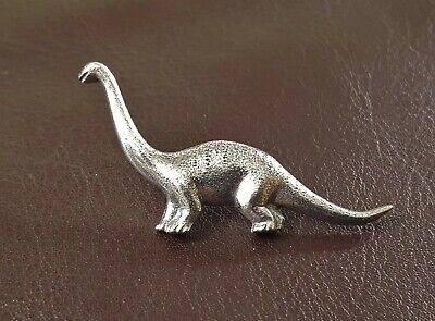 Diplodocus Dinosaur Pin Brooch in Fine Pewter