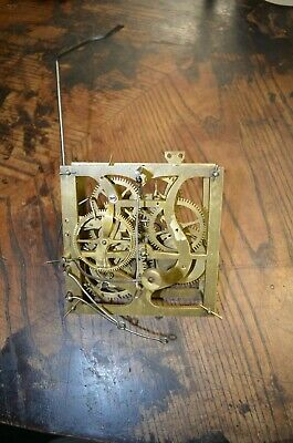 Antique German Cuckoo Clock Pined Movement For Parts Or Repair